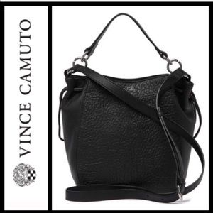 Vince Camuto Black Ames Leather Crossbody …